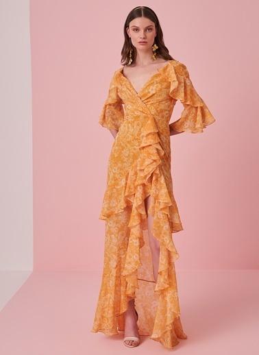 morhipo x dcey Yırtmaç Detaylı Elbise Sarı